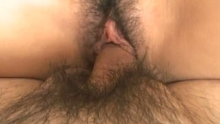Pretty Japanese babe Momo Jyuna sucks a dick and gets pinned in a missionary position