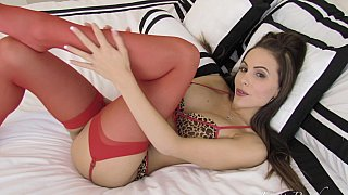 Pussy cat play, in stockings